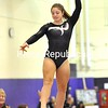 Plattsburgh High's Emy Russell competes on the balance beam in the Section VII Gymnastics Championships in Ticonderoga Saturday. Russell won the event on her way to a second straight All-Around title.<br><br>(P-R Photo/Patric Hendrick)