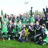 The Chazy girls soccer team, who won, 3-1, over Smithtown Christian to clinch the Class D state crown Saturday, let out a yell as they hear it announced that the Chazy boys also won their game, 5-0. For additional pictures and full story, see page B1.<br><br>(P-R Photo/Michael Okoniewski)