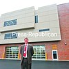 Ticonderoga Central School Superintendent John McDonald Jr. stands in front of the new wing at Ticonderoga High School. The building houses technology, art and music departments at the school. <br><br>(Staff Photo/Lohr McKinstry)