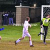 Northeastern Clinton keeper Josh Rabideau makes a save during overtime.  <br><br>(P-R Photo/Pat Hendrick)