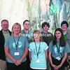 The Plattsburgh High School Green Team: (front row) biology teacher Amy Sholtis, Christina Souliere and Ashley LeVasseur; and (back row) Evie Lapierre, Josh LeVasseur and Justin Collins.<br><br>(P-R Photo/Diane Chase)