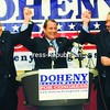 Republican Congressional candidate Matt Doheny is endorsed Wednesday by former New York City Mayor Rudy Guiliani (left) and Plattsburgh Mayor Donald Kasprzak in his race against Democrat incumbent Bill Owens.<br><br>(Staff Photo/Kelli Catana)