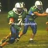 Seton Catholic's Garrett McLean (7) finds running room against Ticonderoga during a high school football game Friday night at Penfield Park. Ticonderoga won, 40-0.<br><br>(P-R Photo/Andrew Wyatt)