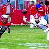 Saranac Lake's Josh Quinn attempts to break up a pass, but Beekmantown's Luke Weaver (2) would make the catch. The Red Storm rolled to a 49-0 win Saturday. Bonus photos will be available online at www.pressrepublican.com.<br><br>(P-R Photo/Gabe Dickens)