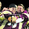 Plattsburgh North Stars' Brandon St. John (left) and Ken Stay celebrate after capturing the Empire Football League crown Saturday night with a13-10 victory over Watertown.<br><br>(P-R Photo/Gabe Dickens)