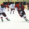 Plattsburgh State hockey recruits take to the ice at Stafford Arena last week during captains' practice. They will get to showcase their talents Saturday night during the annual Red-White game.<br><br>(Staff Photo/Kelli Catana)