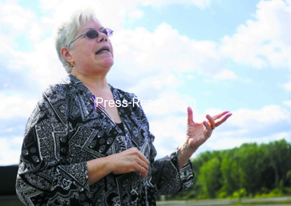 Kathi McCleery, the Working Families Party candidate for mayor, held a news conference Monday.<br><br>(Staff Photo/Kelli Catana)