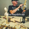 Robert Martel of New Hampshire works on the miniature figure of a British policeman during a workshop in Lake Placid. Martel has been carving for three years.<br><br>(P-R Photo/Jack LaDuke)