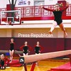 Beekmantown eighth-grader Anny Cerne competes on the balance beam Thursday in CVAC gymnastics meet in Beekmantown. PHS won the meet. Bonus photos of this meet will be available at pressrepublicanphotos.com by midday.<br><br>(P-R Photo/Andrew Wyatt)