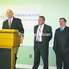 Heralding the Green Collar Jobs Initiative report are (from left) Workforce Investment Board Executive Director Paul Grasso, Workforce Investment Board Chair John Van Natten and Plattsburgh-North Country Chamber of Commerce President Garry Douglas.<br><br>(Staff Photo/Dan Heath)