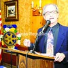 Alan Chartock, president and CEO of Northeast Public Radio and political commentator, spoke Wednesday at the Plattsburgh Noon Rotary meeting about this year's elections.<br><br>(Staff Photo/Kelli Catana)