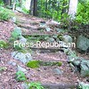 Timber and stone stairs on Hoisington Brook in Westport.<br><br>(P-R Photo/Elizabeth Lee)