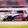 Kevin Boutin races down the main stretch of the final lap Saturday in the Renegades 50-lap feature at Airborne Speedway. Boutin won the event.<br><br>(P-R Photo/Gabe Dickens)