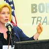 U.S. Sen. Kirsten Gillibrand announces the Made in America grants to bolster high-tech manufacturing, at Bombardier in Plattsburgh on Friday. <br><br>(P-R Photo/Rob Fountain)