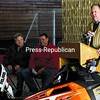 Mayor Donald Kasprzak (right), who was joined by event organizer Sherm Hamel (center) and Mike Perrotte of Airborne Speedway, speaks during a press conference about the return of the East Coast Snocross Series, which will take place  Jan. 14 and 15, at the Crete Memorial Civic Center in Plattsburgh. <br><br>(P-R Photo/Gabe Dickens)