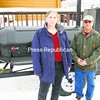 Frenchman's Restaurant owners Joseph and Cindy Bodette stand by their portable smoker at their Crown Point operation. The Bodettes are now offering catered barbecues for local events.<br><br>(Staff Photo/Lohr McKinstry)