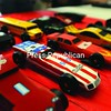 Carefully prepared cars await their turn in the Pinewood Derby race.<br><br>(P-R Photo/Andrew Wyatt)