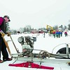 Garrett Foster operates a hand-made saw to cut large blocks of ice from Pontiac Bay in Saranac Lake. Work on building a huge ice palace got under way this week. It will be the centerpiece for the upcoming 114th-annual Saranac Lake Winter Carnival, running from Feb. 4 to 13. At least 1,500 blocks of ice will have to be cut to complete the castle.<br><br>(P-R Photo/Jack LaDuke)