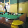 Noah Johnson, a student at  Saranac Lake Middle School, lines up a shot on the pool table at the Saranac Lake Youth Center.<br><br>(P-R Photo/Jack LaDuke)