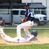 Kasey Favreau (standing) and the Clinton County Junior Mariners open play in the six-team New York State Junior American Legion Tournament in Peekskill.<br><br>(P-R Photo/Rob Fountain)