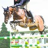 Quentin Judge and H.H. Sandor clear a fence in the junior jumper competition Wednesday at the I Love New York Horse Show at the North Elba Showgrounds. They finished second behind Jonathan McCrea on Twisther.<br><br>(P-R Photo/Pat Hendrick)