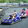 Tiffany Robinson, Paul Dame and Steve Fuller race around the new go-kart track at Airborne Speedway on Broderick Road in Plattsburgh.<br><br>(Staff Photo/Kelli Catana)