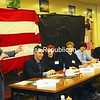 Ian Fisher, a junior at Peru High School, represents Iran during a Security Council session at North Country Model United Nations, hosted by Northeastern Clinton Central School in Champlain for nearly four decades.<br><br>(Staff Photo/Kelli Catana)