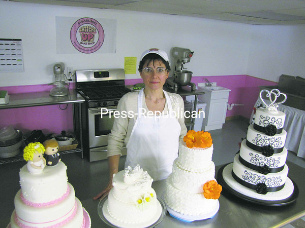 Melissa Frederick has opened Batters Up Bake Shop at her home at 10 Smokey Ridge Drive in Plattsburgh. An artisan baker with 20 years of experience in baking and cake decorating, she offers a wide variety of baked goods including cookies, clams and pies, and she specializes in the design of unique and custom cakes with premium ingredients for any occasion. She services both retail outlets and individuals and can be reached at 566-9667 or visit www.battersupbakeshop.com.<br><br>(P-R Photo/Bruce Rowland)