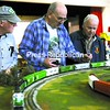 Fred Gemmill, Jim Morris and Tom Favro (from left) chat during Saturday's Craft, Train and Hobby Show at Seton Academy in Plattsburgh. The event included demonstration, model trains layouts, displays and more.<br><br>(P-R Photo/Rob Fountain)