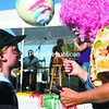 Penelope the Clown offers a balloon to Deirdre O'Callaghan, 7, of Peru, during the 34th annual Applefest in Peru Sunday afternoon. The two-day event, which featured a parade, live music, pony rides, raffles, food and kids games, is expected to raise from $20,000 to $25,000 for St. Augustine's Parish. Bonus photos from this event will be available at www.pressrepublican.com.<br><br>(P-R Photo/Gabe Dickens)