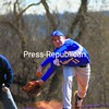 Peru's Conor Casey fires off a pitch during the championship game of the Ticonderoga baseball Tournament against Ticonderoga Saturday. The Sentinels won, 4-3.<br><br>(Staff Photo/Ryan Hayner)