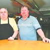 Howard Fleisher, formerly of Michele's Fine Dining (left), and 8-Ball Billiards Cafe owner Jay Montpelier will be offering food service at 8-Ball Billiards. <br><br>(Staff Photo/Kelli Catana)