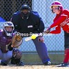 Plattsburgh State's Brittany Marshall connects on a hit during Saturday's college softball game against Potsdam. The Cardinals didn't allow a run in a doubleheader sweep of the Bears.<br><br>(P-R Photo/Gabe Dickens)