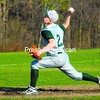 Chazy's Kyle Bisonette delivers a pitch during an MVAC baseball game against Elizabeth town-Lewis Monday in Chazy. The Eagles won, 4-3.<br><br>(Staff Photo/Ryan Hayner)