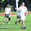Plattsburgh High School soccer coach Chris LaRose motions to his players during practice Wednesday.<br><br>(P-r Photo/Rob Fountain)