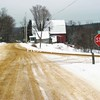 The stop sign here on Thomas Hill Road, facing west at the intersection with River Road, is not enough to keep drivers from dangerous situations. Starting Monday, motorists will find two more on River Road.<br><br>(Staff Photo/Denise A. Raymo)