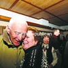 Assemblywoman Janet Duprey of Peru gives developer Michael Foxman a congratulatory hug at a party at the Park Restaurant in Tupper Lake following the Adirondack Park Agency session that gave approval to his Adirondack Club and Resort project. More than 250 people celebrated at the event.<br><br>(P-R Photo/Jack LaDuke)