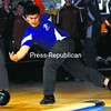 Peru's Jonathan Bowman competes in a CVAC boys' bowling match against Willsboro Friday at North Bowl Lanes. Bowman rolled a 684 series as the Peru boys won, 9-1. Bonus photos will be available midday Monday at www.pressrepublicanphotos.com. <br><br>(P-R Photo/Rob Fountain)
