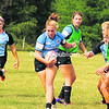 Corrine Heavner carries the ball during a U20 Women's National Team practice Wednesday in Lake Placid. The team will play an intrasquad game today in Saranac   Lake as part of the annual Can-Am Rugby Tournament.<br><br>(P-R Photo/Jack LaDuke)