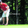 Saranac Lake's Devin Darrah putts on the No. 10 hole at Westport Country Club during the Section VII golf championships Thursday. The Red Storm, after going 10-0 in the regular season to win the CVAC title, captured the Section VII crown. The individual Section VII champion will be determined today.<br /> <br /> (Staff Photo/Ryan Hayner)