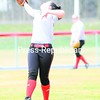Plattsburgh State's Katie McNally snags a ball during practice last week. The Cardinals have had plenty of practice time lately — they haven't played since March 17.<br><br>(P-R Photo/Rob Fountain)