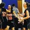 Indian Lake/Long Lake players celebrate Tuesday in the Section VII semifinals. The Orange will play Elizabethtown-Lewis in today's Class D final at the Plattsburgh State Field House.<br><br>(P-R Photo/Rob Fountain)