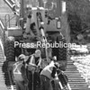 Workers for the Canadian Pacific Railway perform maintenance on the tracks spanning the Saranac River near the Macdonough Monument in Plattsburgh.<br><br>(P-R Photo/Gabe Dickens)