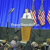 """President Barack Obama, addressing the crowd in Burlington, called the 2012 election """"make or break"""" for the American middle class.<br><br>(Staff Photo/Kim Smith Dedam)"""