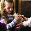 Kalli Schwartz, 4, holds a baby chick in the chicken coop at Country Dreams Farm in Plattsburgh during Bailey Avenue Elementary School's recent pre-kindergarten field trip there. Students in Catherine Conway and Pammy Maloney's morning and afternoon classes received a tour of the farm by horse-drawn carriage, fed the animals and learned about life on the farm. Melissa Provost and George Weidle of Country Dreams Farm welcome walk-in visits, providing they are home, otherwise an appointment is required.<br><br>(P-R Photo/Gabe Dickens)