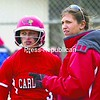 Plattsburgh State coach Stephanie Zweig talks to Megan Price during a game against New Paltz this season. Zweig has now won a SUNYAC championship and made the NCAA tournament as a player and a coach.<br><br>(P-R Photo/Gabe Dickens)
