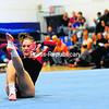 Beekmantown's Alyssa Leonard goes through her floor-exercise routine Monday in CVAC gymnastics competition in Peru. Leonard won the event.<br><br>(Staff Photo/Kelli Catana)