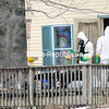 A HAZMAT team removes leftover meth makings from a home at 2261 Military Turnpike in Plattsburgh on Wednesday morning. State Police said Joshua M. Baker, 25, who rents the home, is charged with third-degree manufacturing meth for possession of a precursor to making the drug, a felony; and petit larceny, a misdemeanor.<br><br>(STAFF PHOTO/KELLI CATANA)