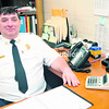 City of Plattsburgh Fire Department Assistant Chief Randy Stone oversees day-to-day operations in the absence of a chief. No leader will be hired until litigation is settled over requirements for the job.<br><br>(STAFF PHOTO/KELLI CATANA)