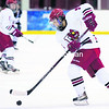 Plattsburgh State's Allison Era (9) takes control of the puck during Wednesday's nonleague women's college hockey game against Middlebury. The Cardinals captured a 3-1 victory.<br><br>(P-R Photo/Gabe Dickens)